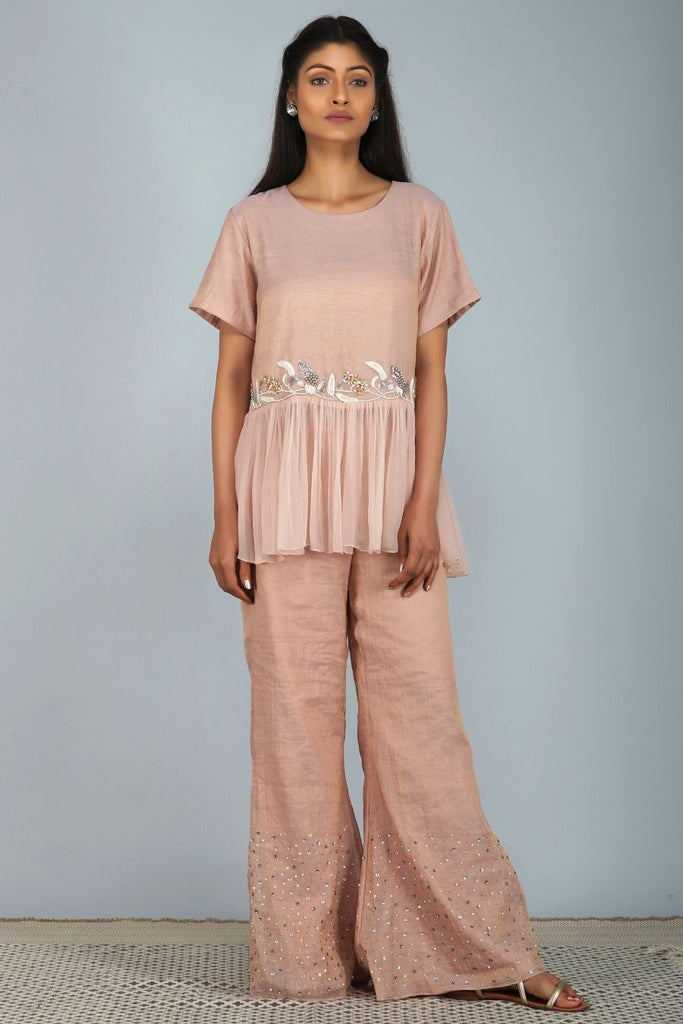 Moonlight top and sequined trouser