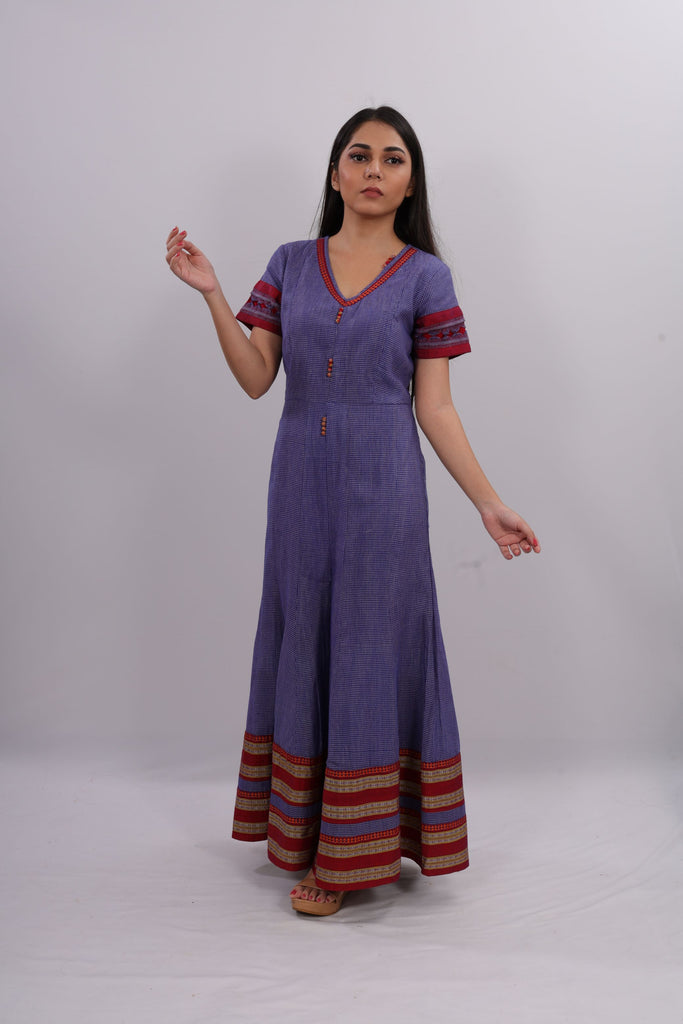 WOMEN BLUE ETHNIC JUMPSUIT