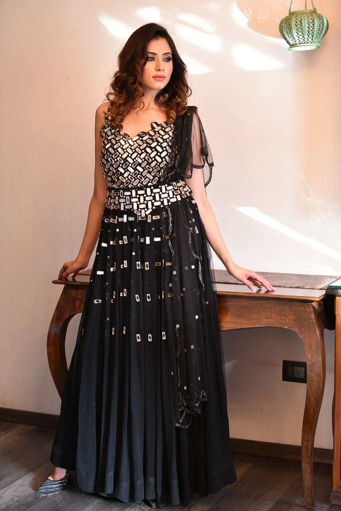 Black Mirror Anarkali Suit
