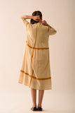 OCHRE SHIRT DRESS WITH LINING