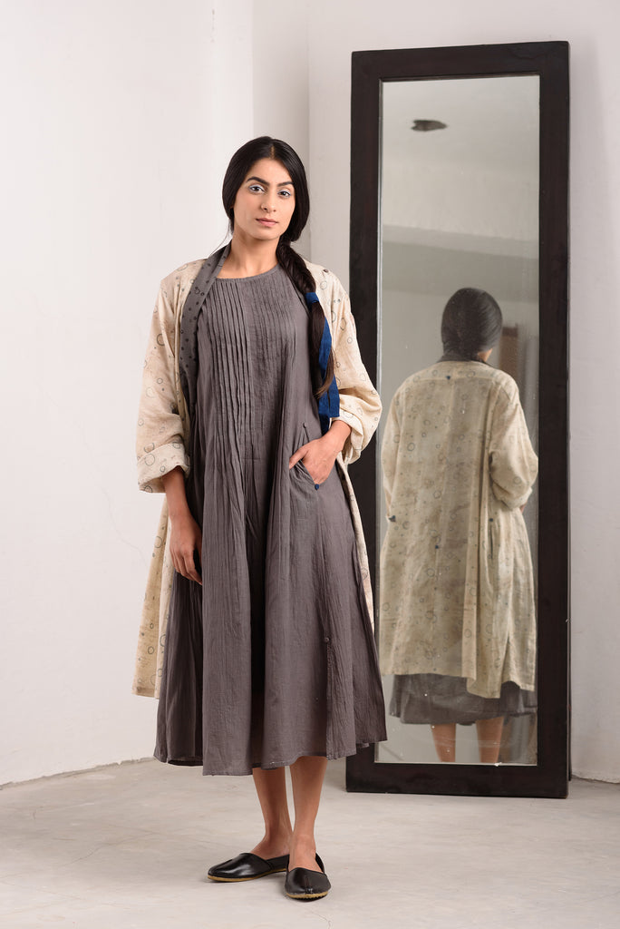 """muddy robe grey jane dress"""