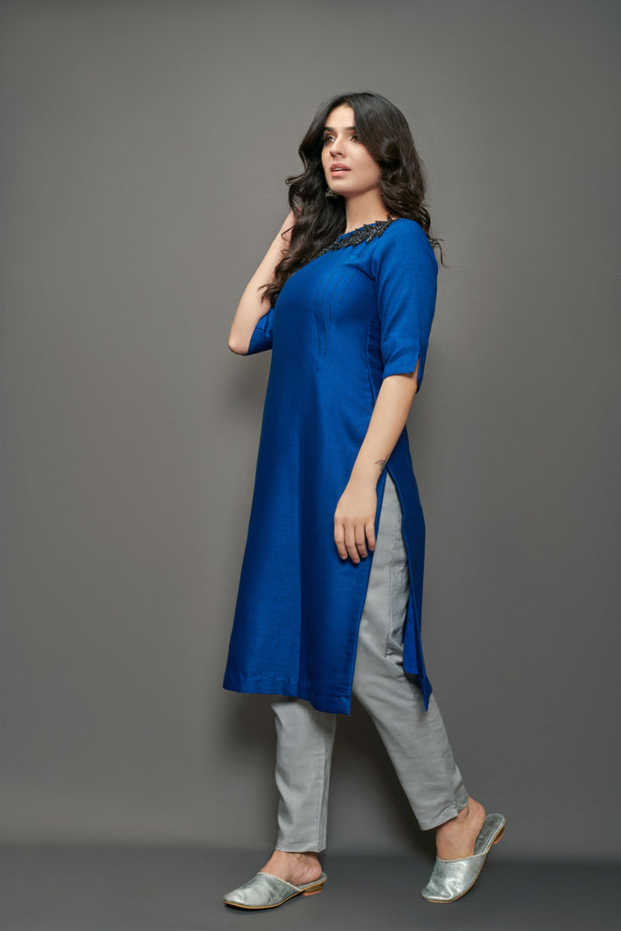 Straight Kurti with cigarette pants