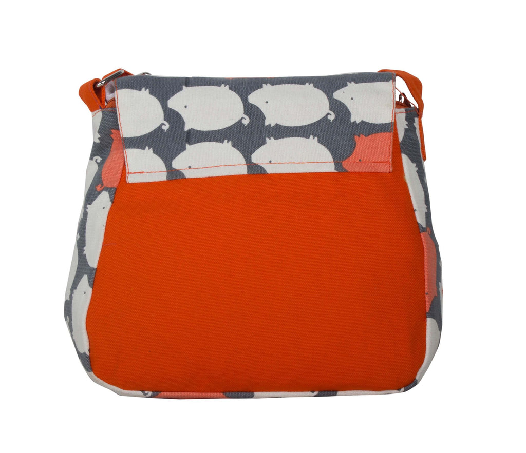 Canvas Sling Bag in orange