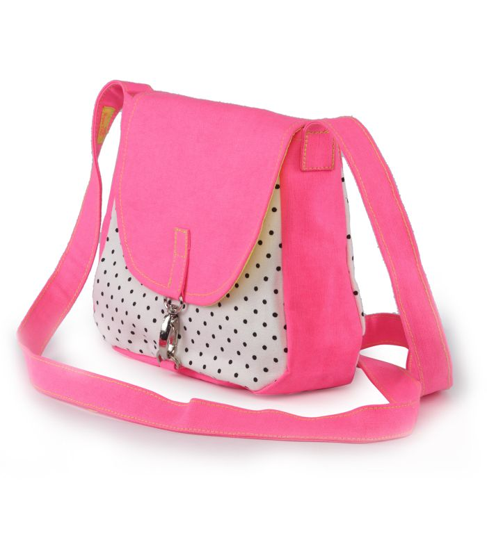 Canvas Sling Bag in pink