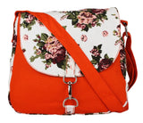 Orange  Canvas Sling Bag