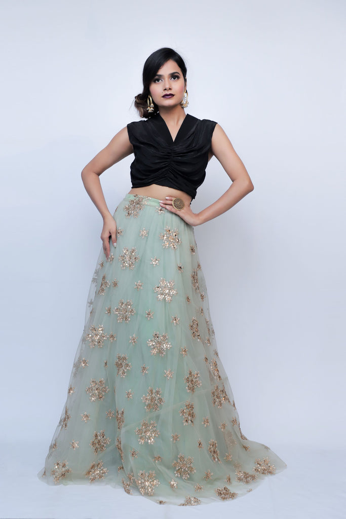 Set of Crop Top and Skirt