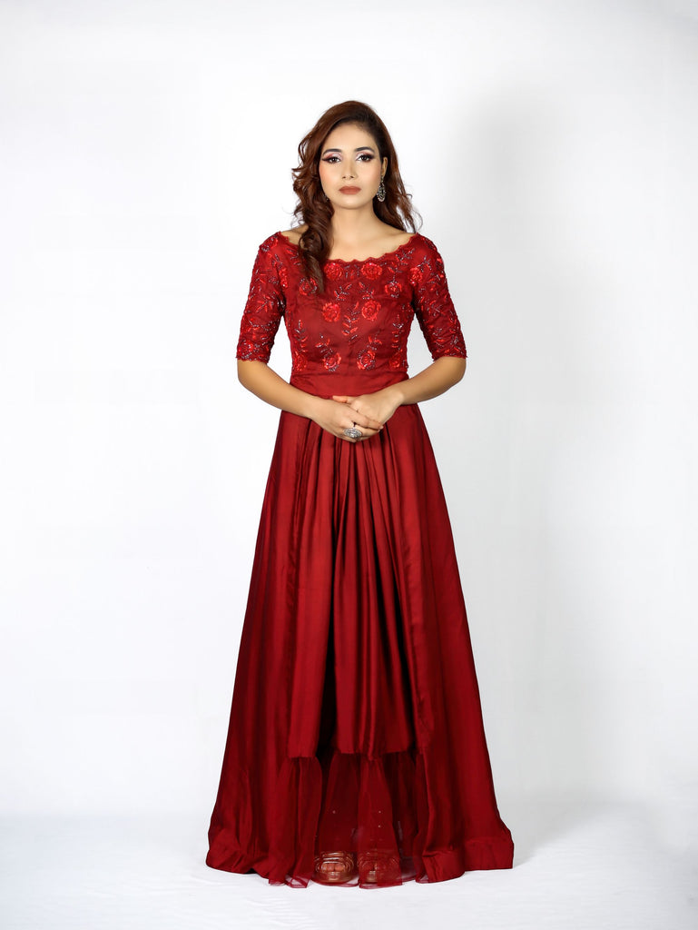 Gown of modal satin