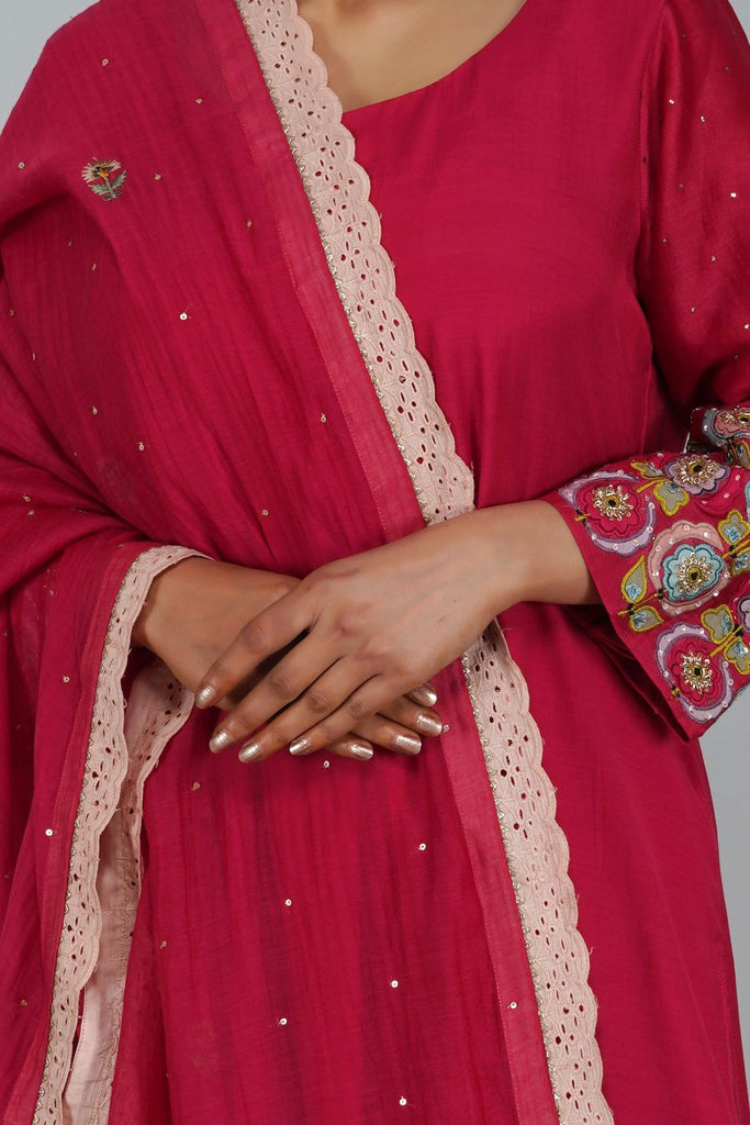 suzani flower kurta set