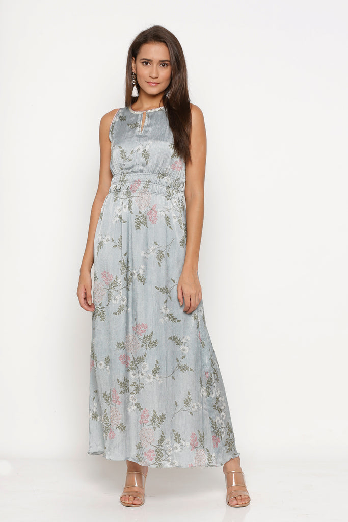 MAXI DRESS, ICE BLUE