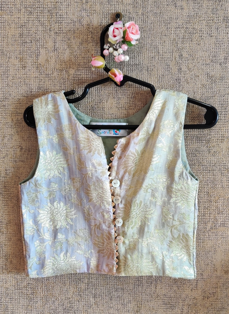 BROCADE TOP WITH GHAGHRA