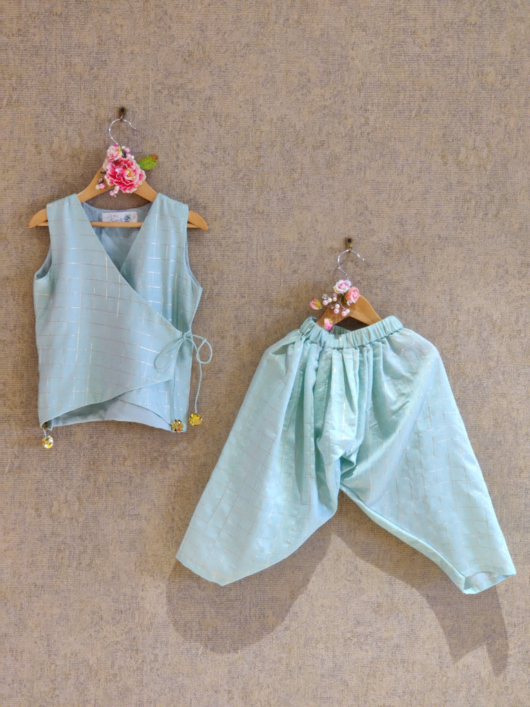 PASTEL GREEN DHOTI SET