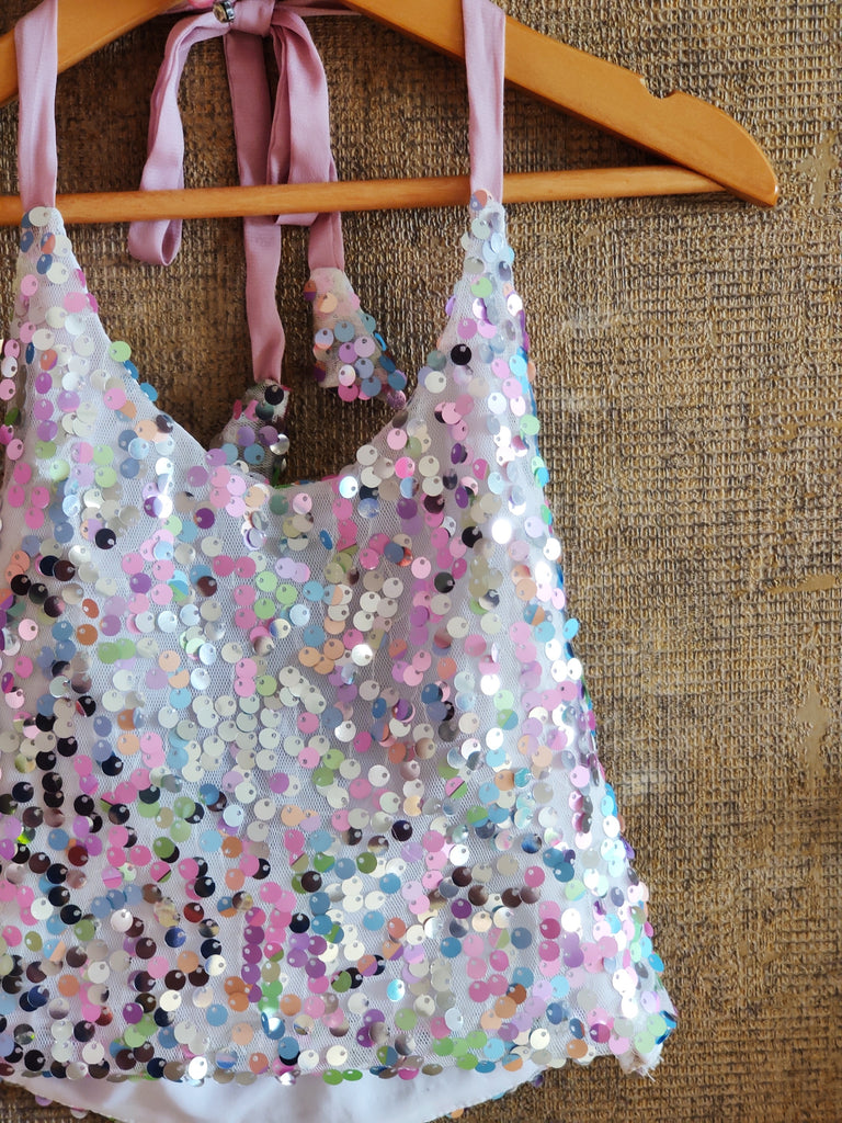 UNICORN  SEQUIN TOP AND GHAGHRA