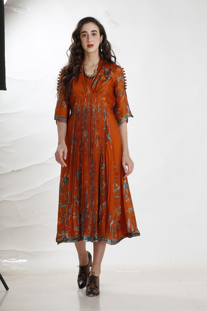 Rusty Dandy Print Dress