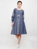 CHAMBRAY COTTON SHORT DRESS