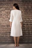 white linen georgette tunic  .