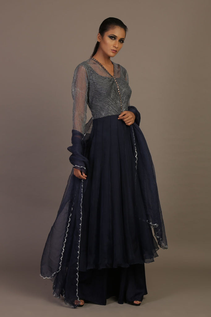PRINTED ANARKALI SET