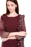 Maroon top and Palazzo set