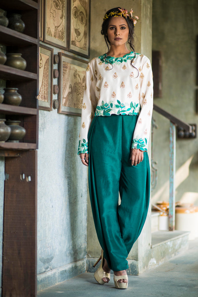 Silk Dupion Top & Pant Set