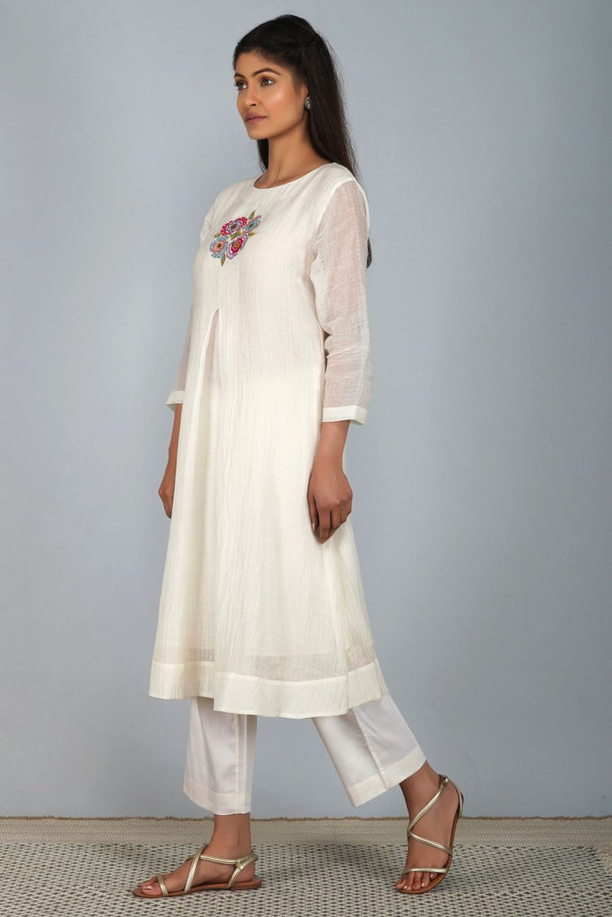 suzani flower buti tunic set