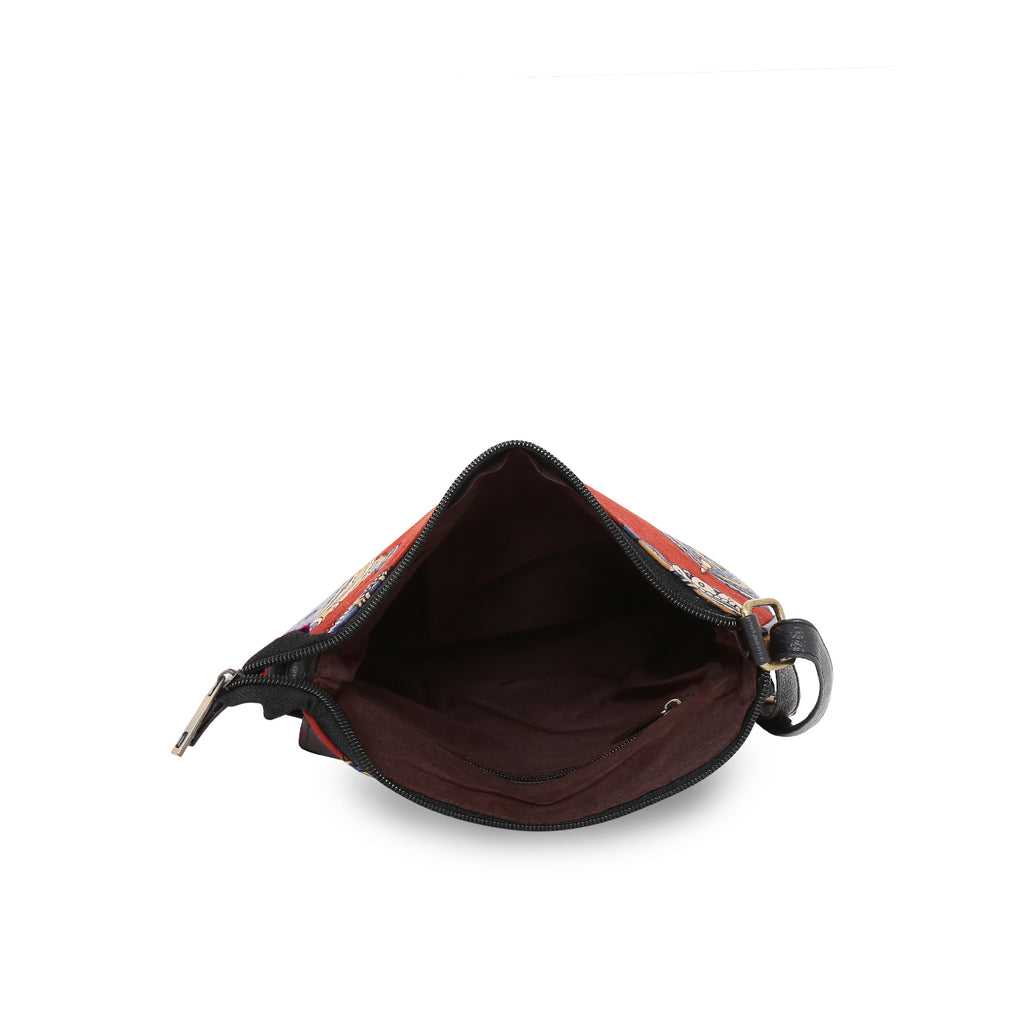 Leatherette Sling Bag
