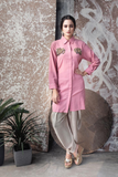 SHIRT WITH TULIP DHOTI