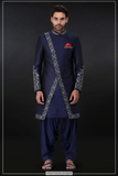 NAVY BLUE SHERWANI SET