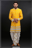 YELLOW SHERWANI SET