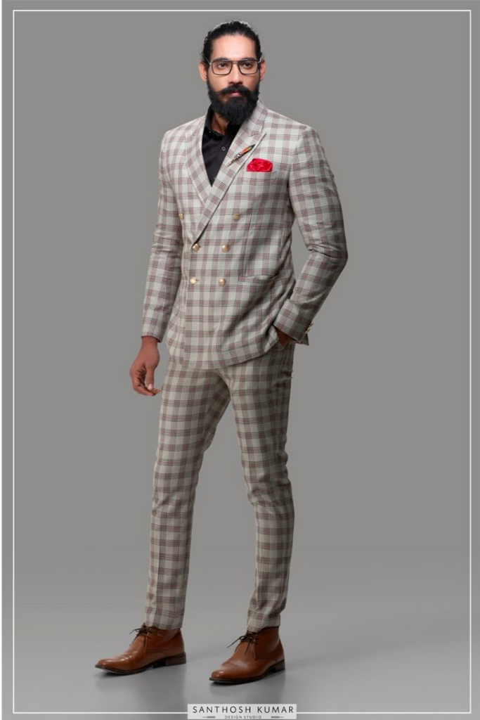 GREY CHECKERED SUIT