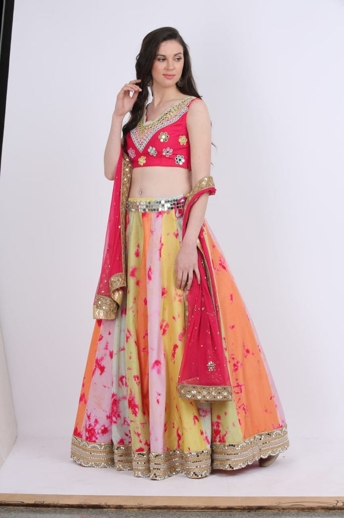 Multicolor Tie and Dye Lehenga