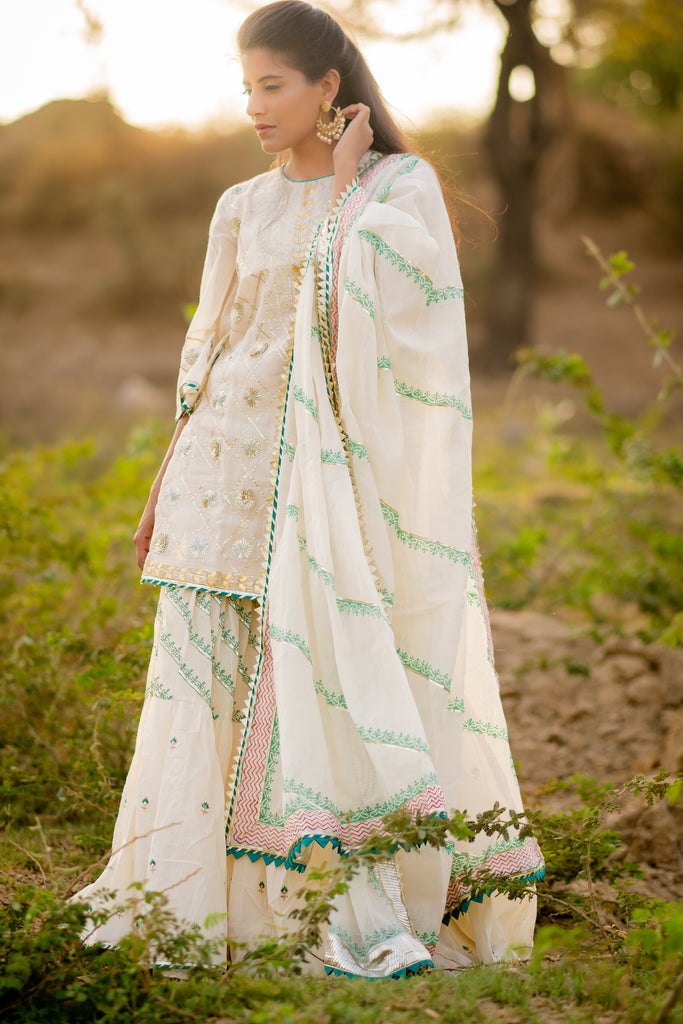 Gharara sat with dupatta