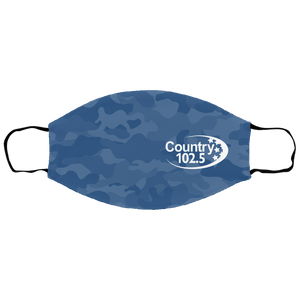 Country 102.5 Blue camo Face Mask