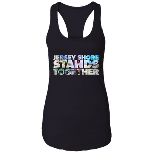 Jersey Shore Stands Together Women's Racerback Tank