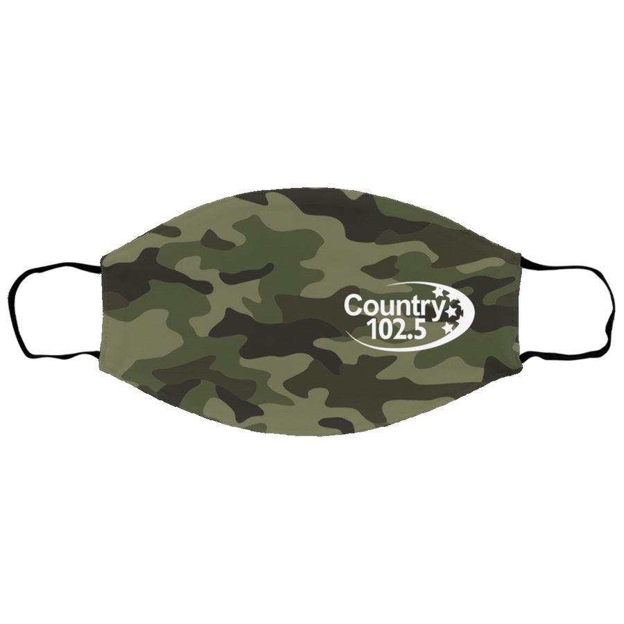 Country 102.5 Camo Face Mask
