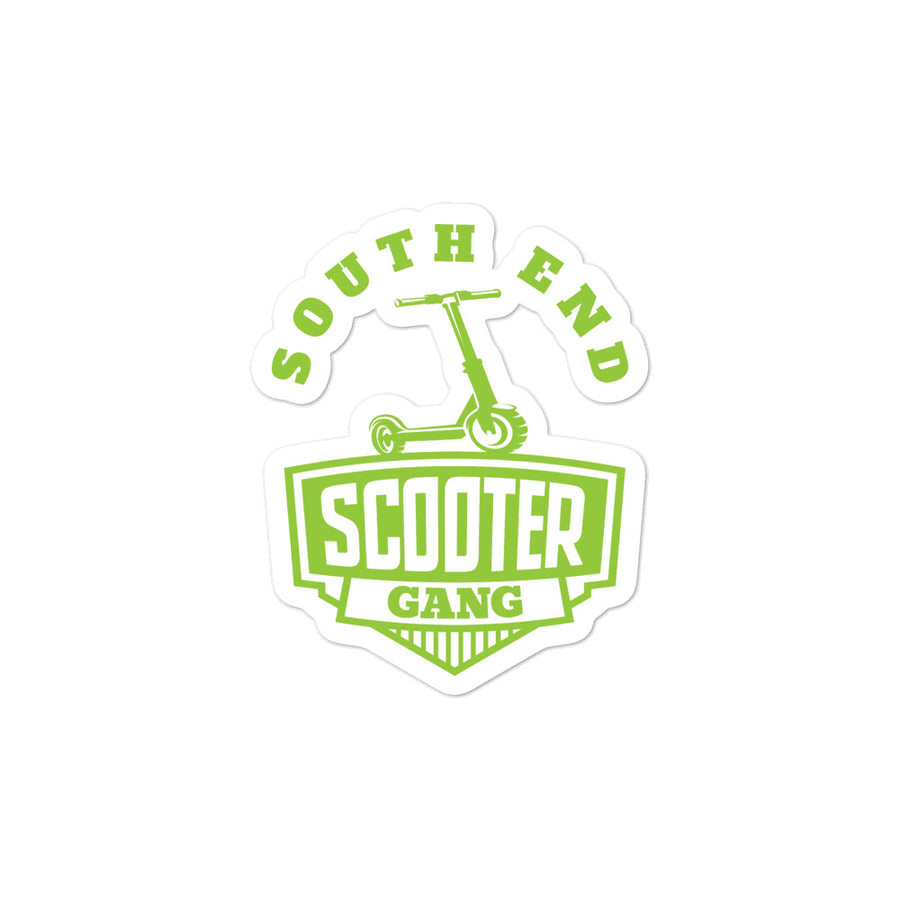 South End Scooter Green Sticker