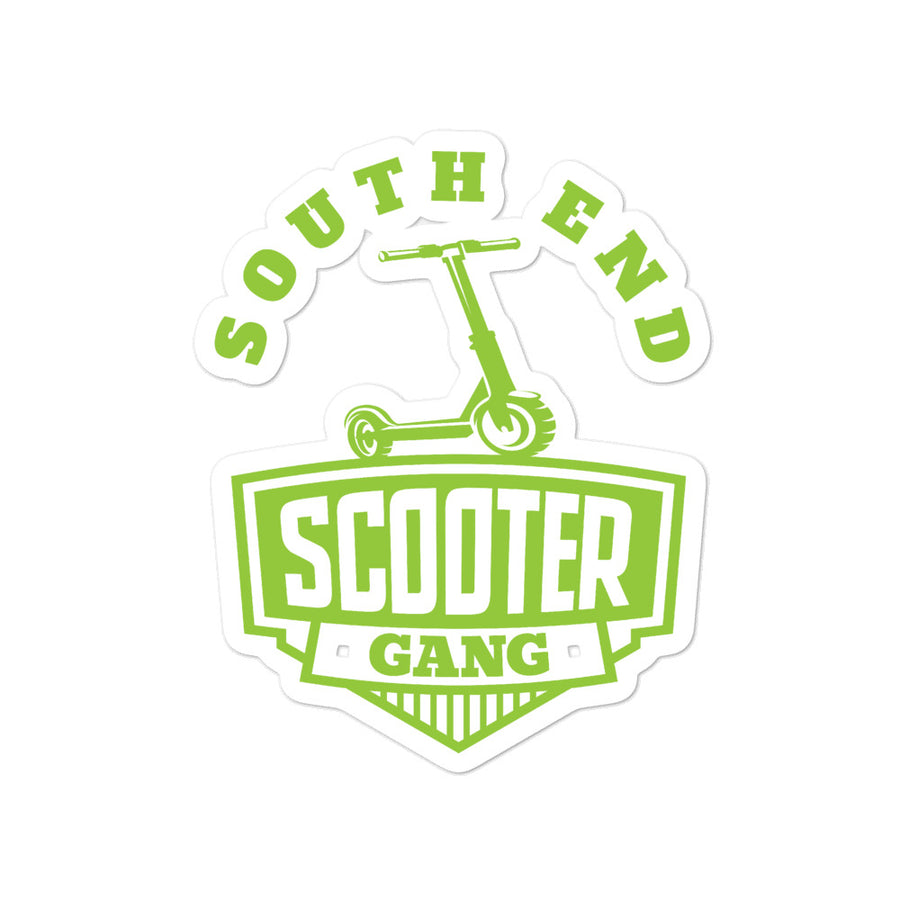 Southend Scooter Green Sticker
