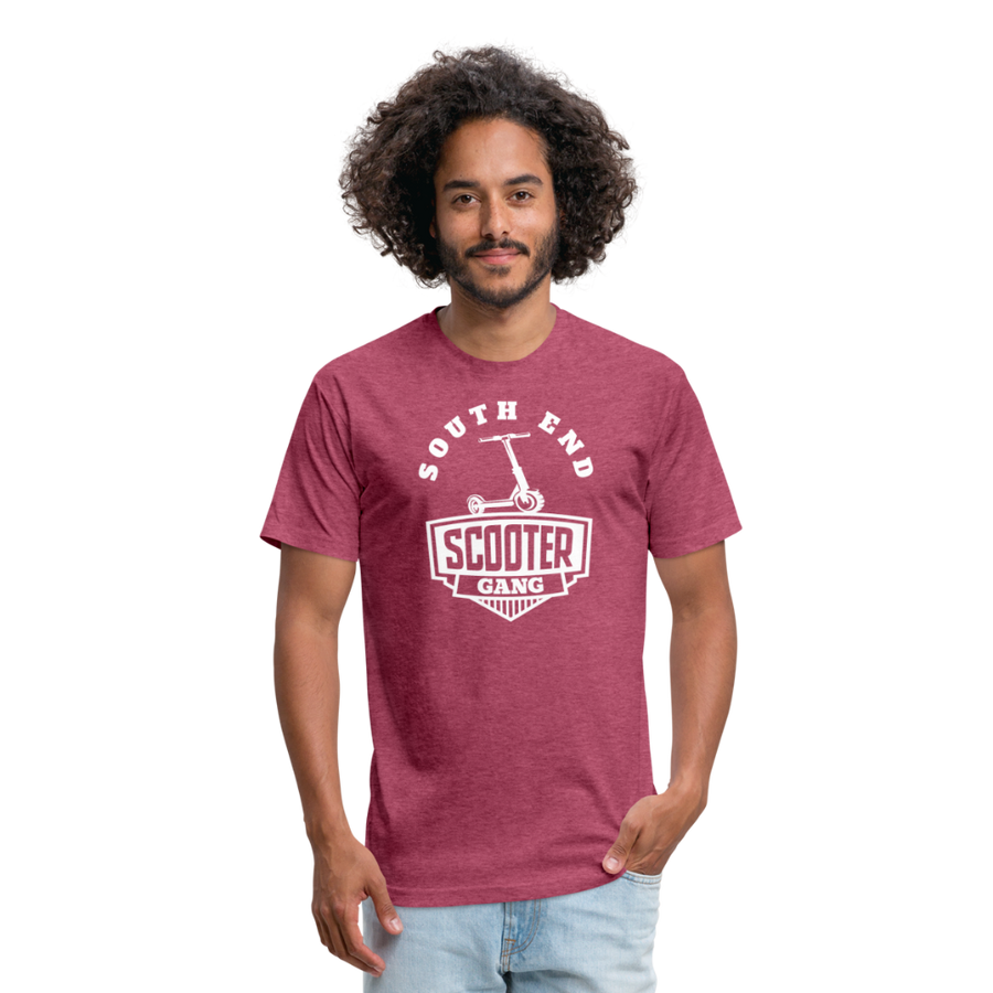 Southend Scooter T-shirt - heather burgundy