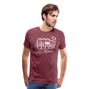 Plaza T-shirt - heather burgundy