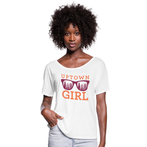 Uptown Girl Flowy Shirt - white