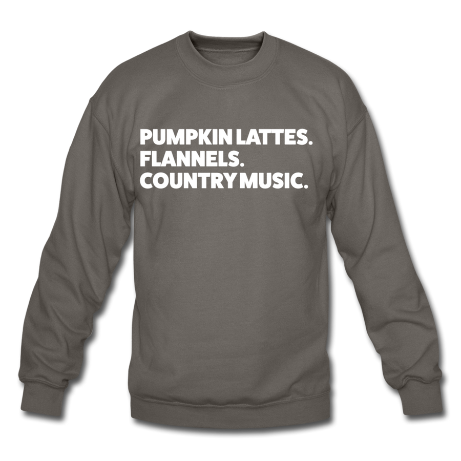 Lattes & Flannel Sweatshirt - asphalt gray
