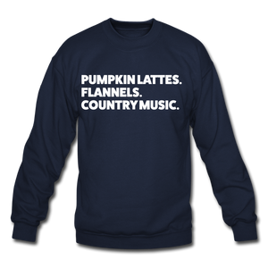 Lattes & Flannel Sweatshirt - navy