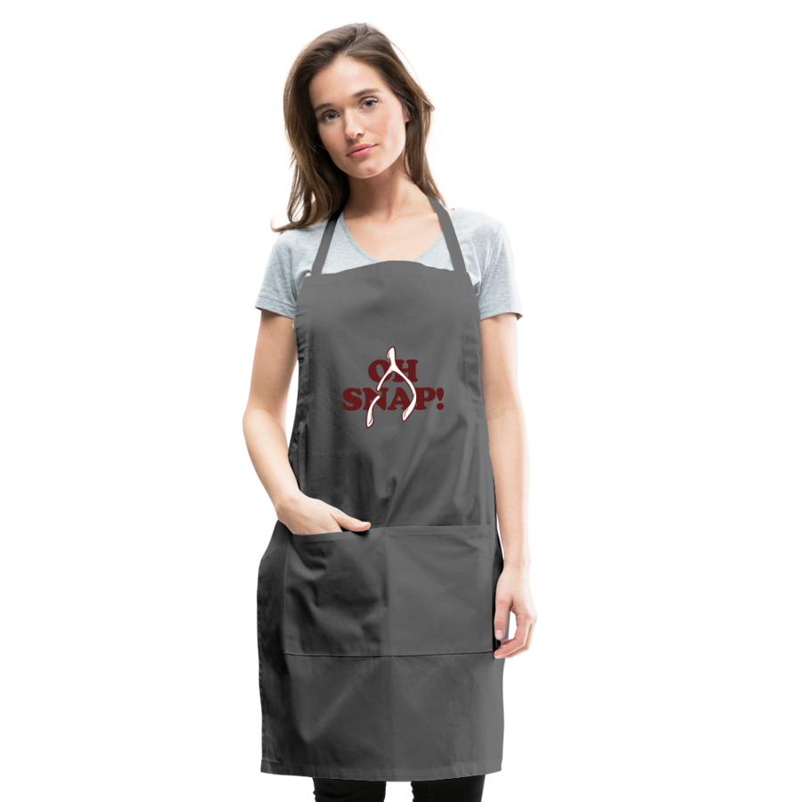 Oh Snap Apron - charcoal