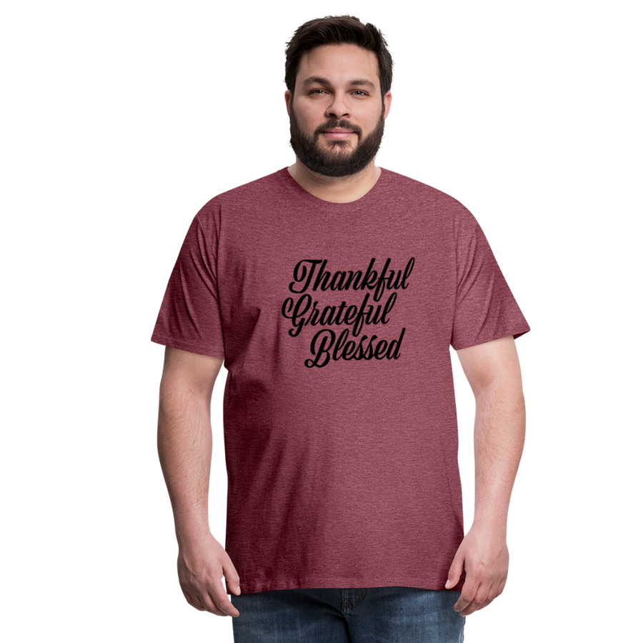 TGB T-shirt - heather burgundy