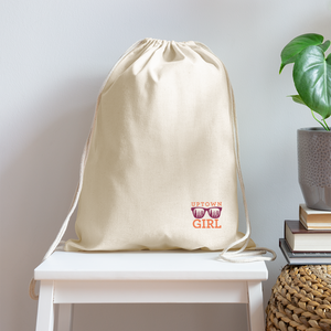 Uptown Girl Drawstring Bag - natural