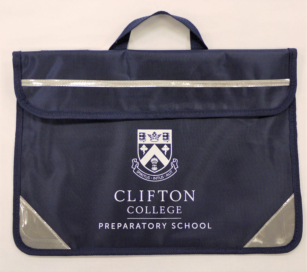 Navy Clifton College Book Bag