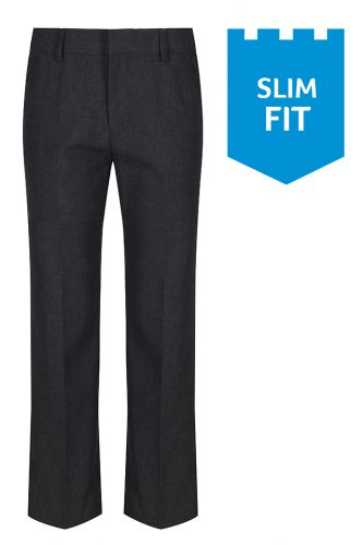 Slim Fit Grey Trousers