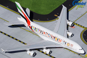 "Pre-Order: GJUAE1959 Gemini Jets 1/400 - Emirates Airbus A380 ""Year of Tolerance"" - A6-EVB"