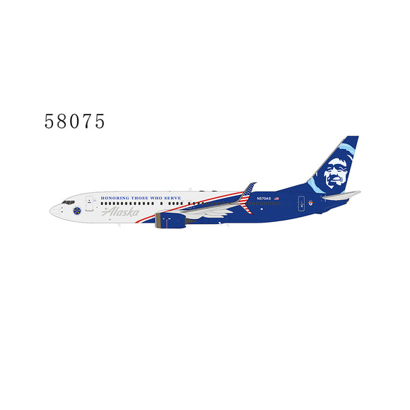 NG58075 - NG Models 1/400 Alaska Air Boeing 737-800 (Honoring Those Who Serve) - N570AS