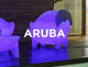 Outdoor armchair with light ARUBA