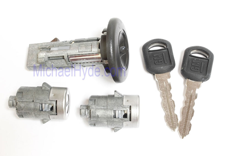 7012945 GM Ignition-Door Lock Set (coded with keys) Strattec Lock Part