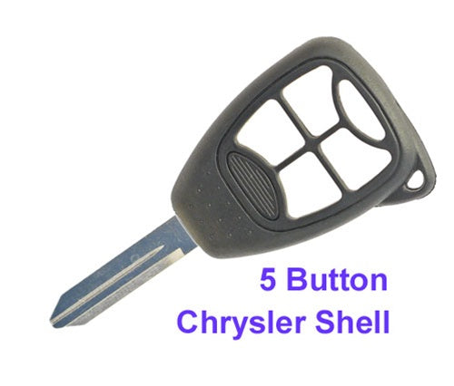 5 Button Chrysler Dodge Jeep Remote Shell Key